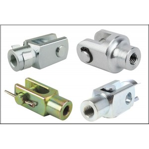 CNC Machining Gas Spring Rod End U Clevis with Pin
