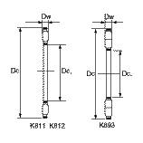 K81105TN Thrust Needle Bearing